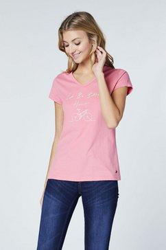 oklahoma premium denim t-shirt »mit v-ausschnitt« roze