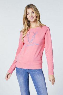 oklahoma premium denim sweatshirt »mit frontprint« roze