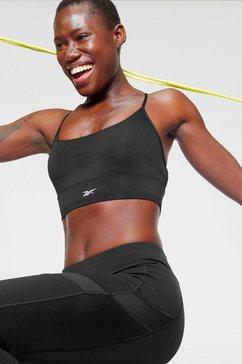 reebok sport-bh »wor new tri back bra« zwart