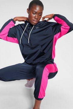 reebok trainingspak »linear logo hoodie« blauw