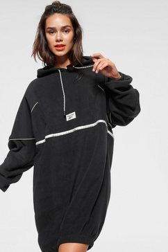 reebok classic midi-jurk »cl gp we hooded dress« zwart