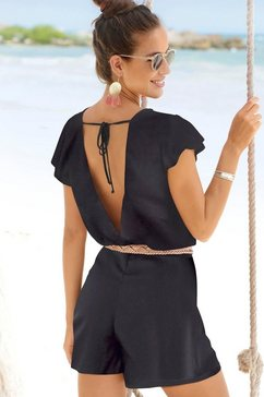 s.oliver beachwear korte jumpsuit zwart