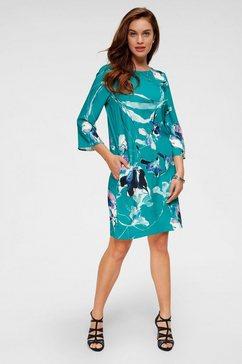 daniel hechter gedessineerde jurk blauw