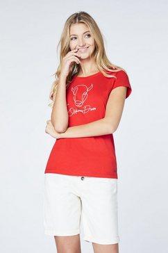 oklahoma premium denim t-shirt »hergestellt aus bio baumwolle« rood