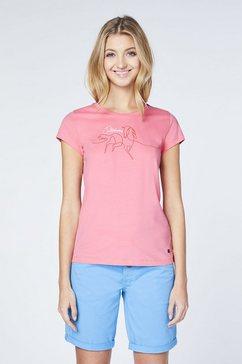 oklahoma premium denim t-shirt »hergestellt aus bio baumwolle« roze