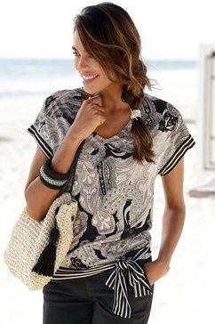 lascana shirt met korte mouwen zwart