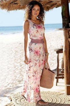 s.oliver beachwear maxi-jurk roze