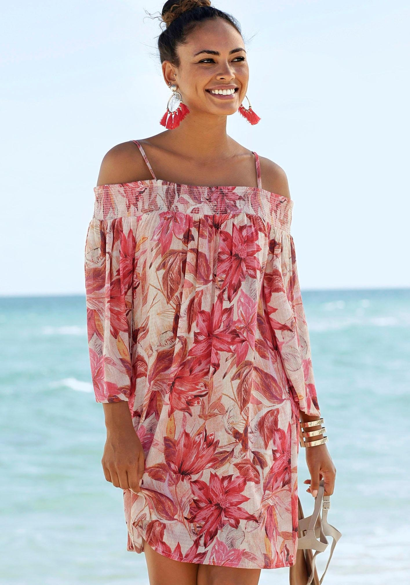 s.Oliver RED LABEL Beachwear s.Oliver Beachwear strandjurk - gratis ruilen op otto.nl