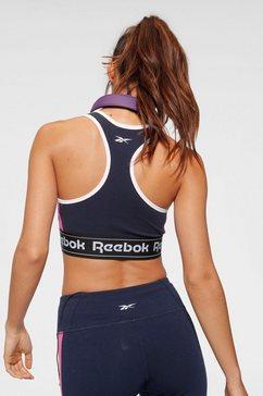 reebok sport-bh »te linear logo bralette« blauw
