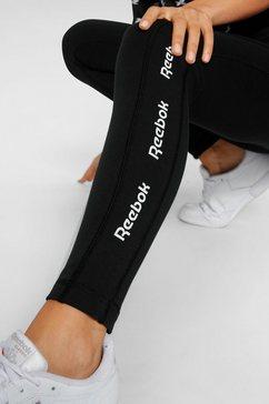 reebok legging »te linear logo ct l« zwart