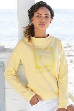 elbsand sweatshirt »finnia« geel