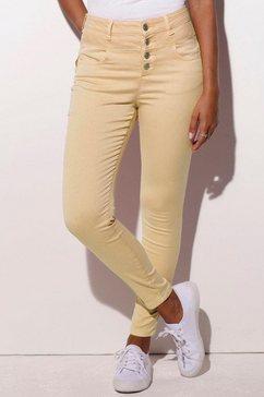 lascana high-waist jeans van superstretch-kwaliteit geel