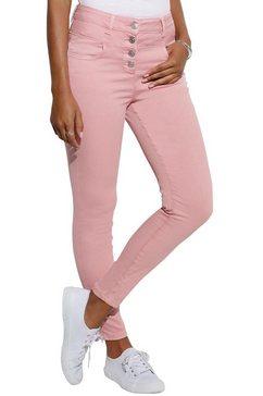 lascana highwaist-jeans roze