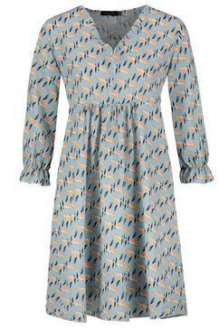 sublevel jurk in a-lijn blauw
