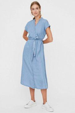 vero moda jeansjurk »vmsaga« blauw