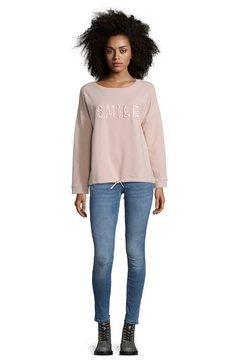 cartoon sweater met knoopsluiting »mit aufdruck« roze