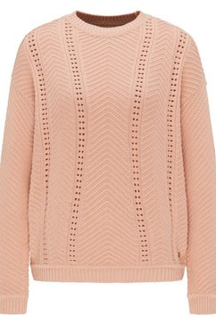 mustang sweater »camilla c ajour« roze