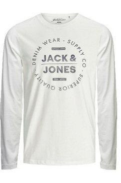 jack  jones junior shirt met lange mouwen »jjejeans tee ls crew nec« wit