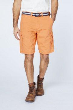 oklahoma premium denim john loose: denim bermuda »mit guertel« oranje