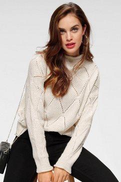 haily's trui met staande kraag »naomi« beige