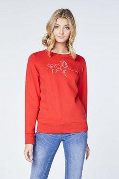 oklahoma premium denim sweatshirt »mit frontprint« rood