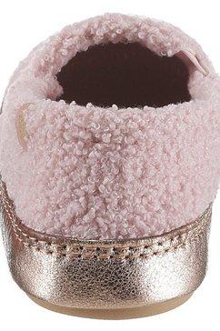 flip flop pantoffels »homie*teddy metallic« roze