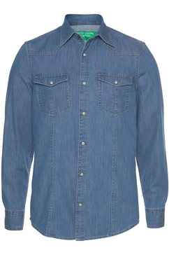 united colors of benetton jeansoverhemd blauw