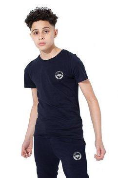 hype t-shirt »jungen mit logo, kurzaermlig« blauw