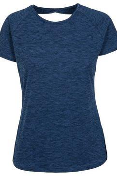 trespass t-shirt »damen ally active« blauw