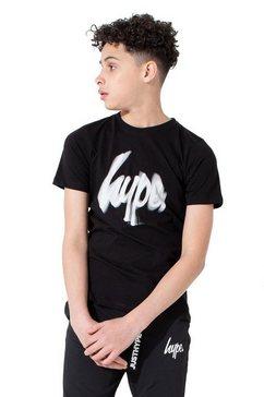 hype t-shirt »jungen sin spin mit logo-schriftzug« zwart