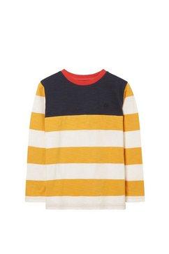 fat face shirt met lange mouwen »kinder langarmtop mit blockstreifen« geel