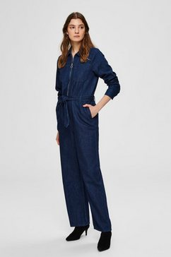 selected femme denim jumpsuit blauw