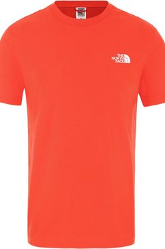 the north face functioneel shirt »simple dome« rood
