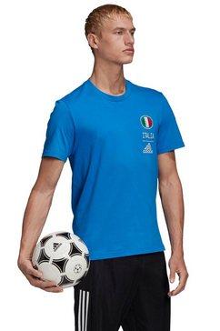 adidas performance t-shirt »italia tee« blauw