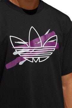 adidas originals t-shirt »paint trefoil tee« zwart