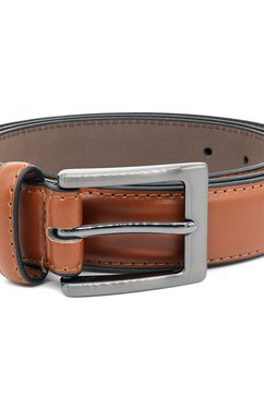 duke clothing leren riem »herren lederguertel anthony« bruin
