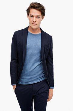 s.oliver black label slim:elastisch jogg suit colbert blauw