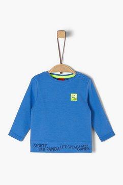 s.oliver jersey shirt met lange mouwen blauw