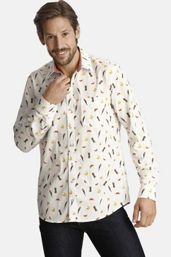 shirtmaster overhemd met lange mouwen »parrotmeetsfruit« wit