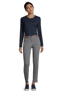 betty barclay slim fit-broek met patroon »mit elastischem bund« multicolor