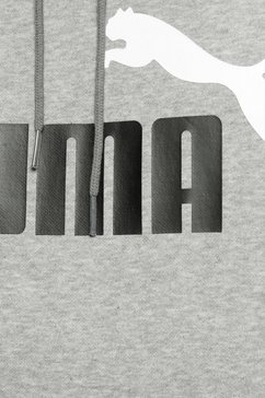 puma hoodie »ess 2 col hoody fl big logo« grijs