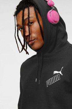 puma hoodie »amplified hoodie fl« zwart
