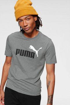 puma t-shirt »ess 2 col logo tee« grijs