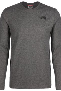 the north face longsleeve »red box« grijs
