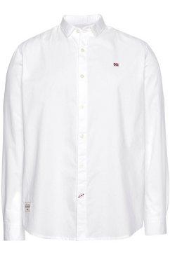 napapijri overhemd met lange mouwen wit