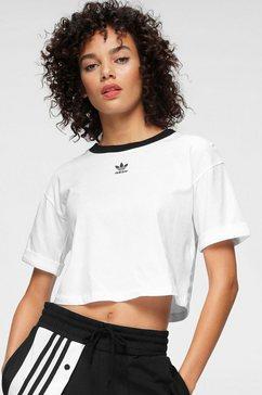 adidas originals t-shirt »crop top« wit