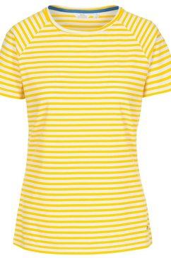 trespass t-shirt »damen ani, kurzaermlig« geel