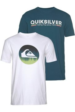 quiksilver t-shirt »burning rager flaxton pack« (set van 2) wit