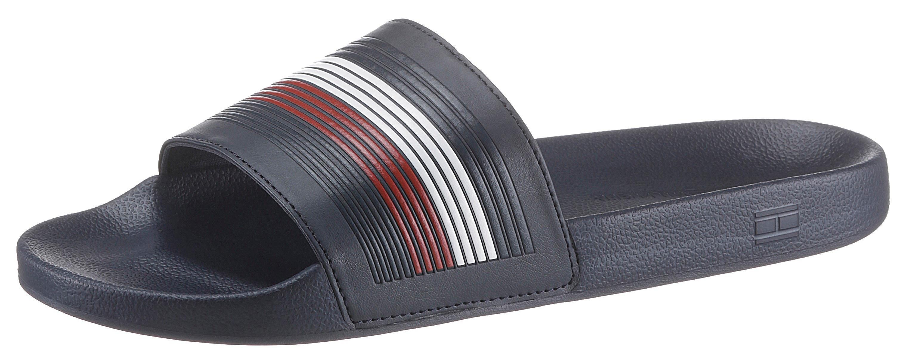 Tommy Hilfiger slippers »SEASONAL TH POOLSLIDE« nu online kopen bij OTTO
