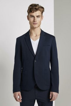 tom tailor denim colbert »sakko in piqué-struktur« blauw